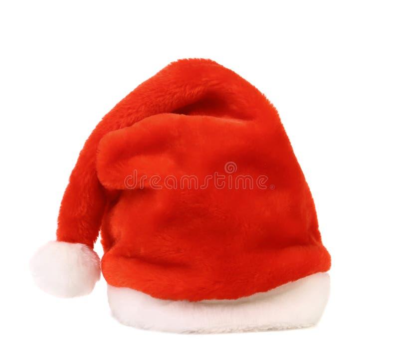 Chapeau simple de rouge de Santa Claus photo libre de droits
