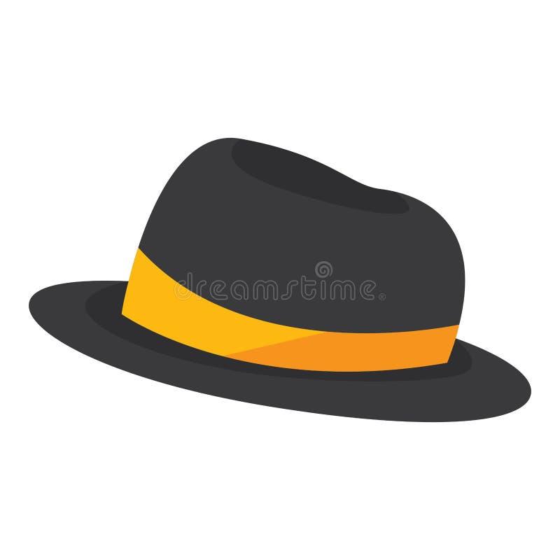 Chapeau traditionnel d'isolement de cru avec le ruban illustration libre de droits