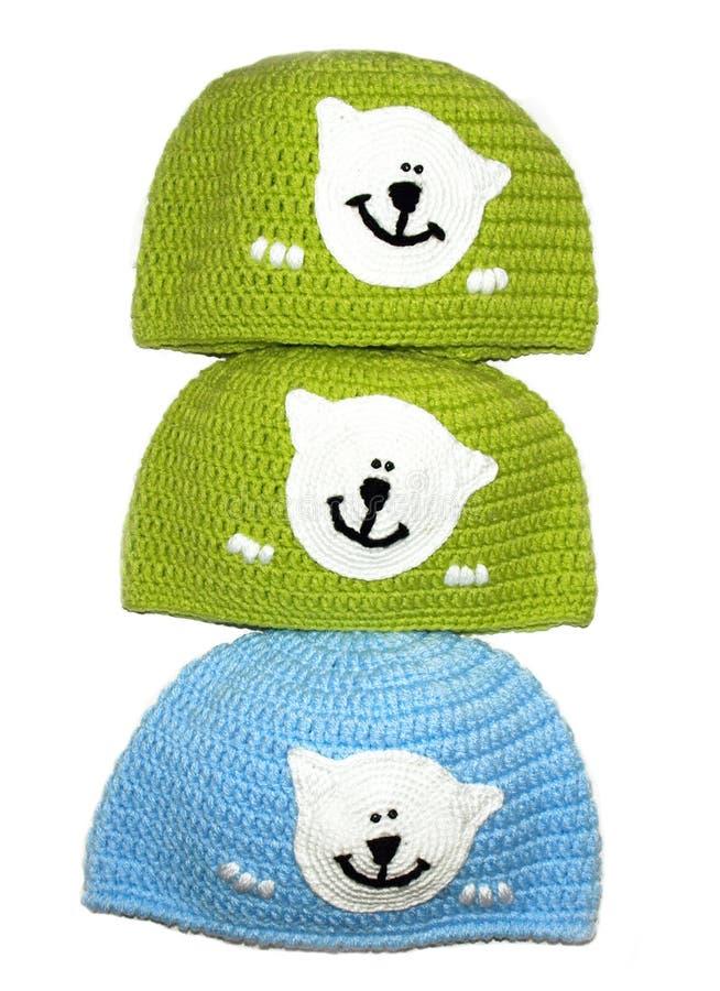Chapeau tricoté un fabriqué à la main photo libre de droits