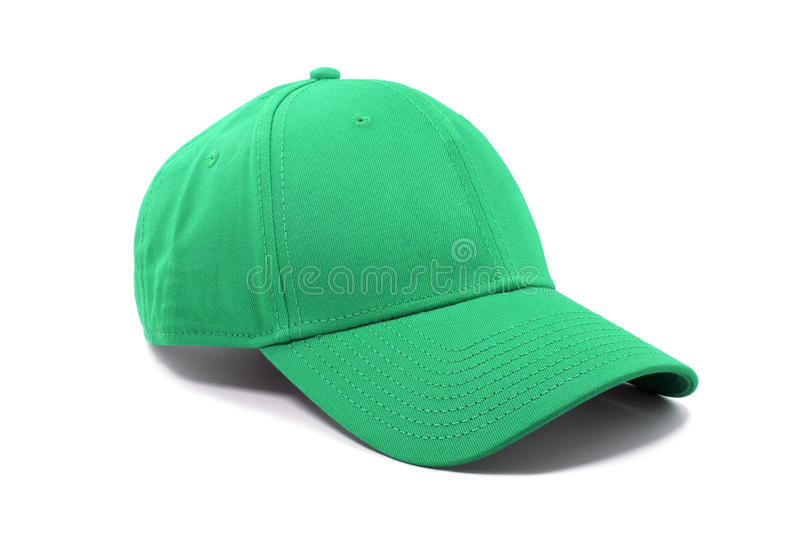 Chapeau vert de mode d'isolement photo stock