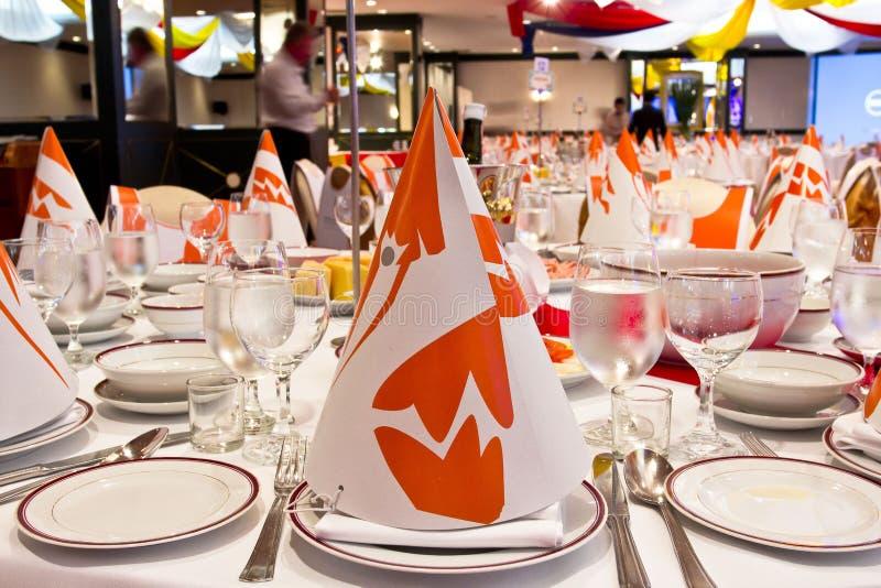 Chapeaux décorés de la réception d'écrevisses photographie stock