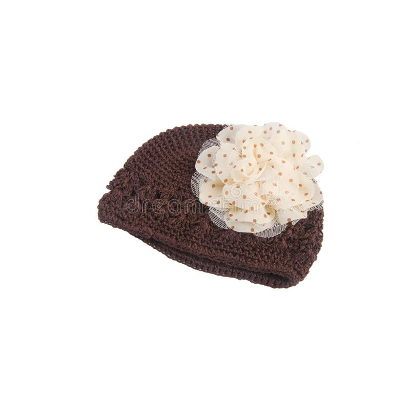 Chapeaux de chéri pour le garçon et la fille, sur le fond blanc images stock