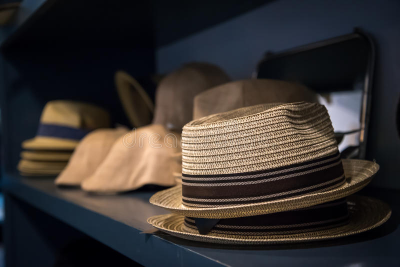 Chapeaux de chapeaux de chapeaux photographie stock