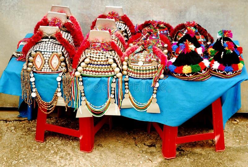 Chapeaux thaïs de Hilltribe photos stock