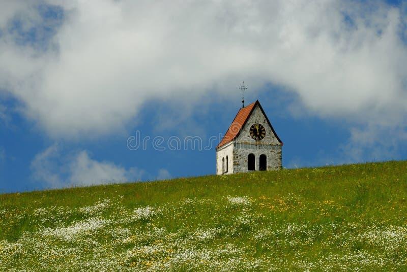 Download Chapel stock photo. Image of faith, blossom, clock, pasture - 26477090