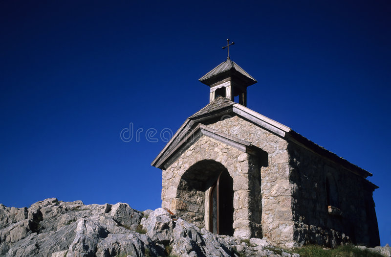 Chapel. In the Dachstein Mountains, Alps, Austria stock image