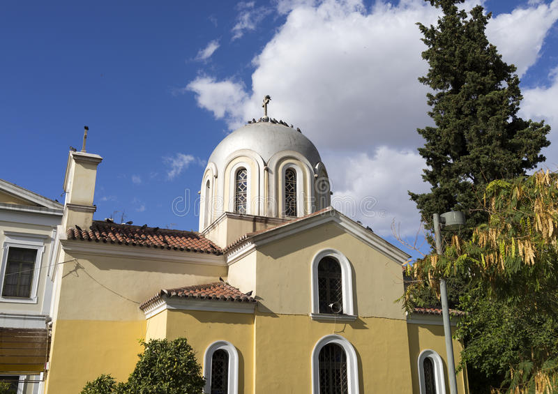 Download Chapel in Athen stock photo. Image of christ, tree, greece - 35345786