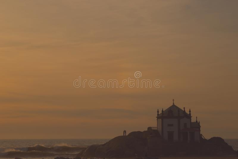 Download Chapel on the beach stock photo. Image of calm, catholic - 20614092
