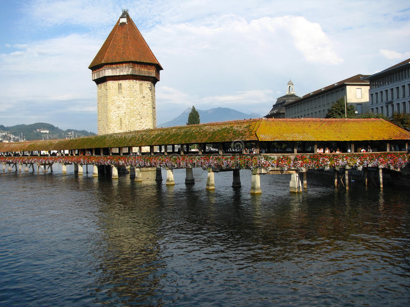 Chapel bridge and the Water Tower, Lucerne