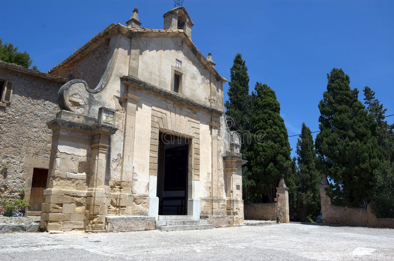 Chapel of Calvary. Chapel of Calvery at the top of the Calvery steps, Pollensa, Mallorca, Spain royalty free stock photography