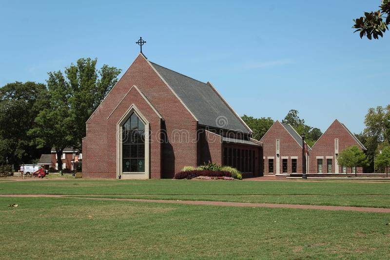 Campbell University Chapel, Buies Creek, NC. Chapel at Campbell University, Buies Creek, North Carolina, where church services are held for University students royalty free stock photography