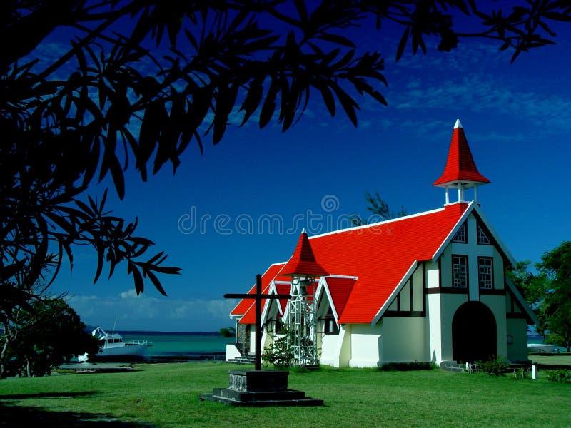 Chapel, Cap Malheureux, Mauritius stock photo