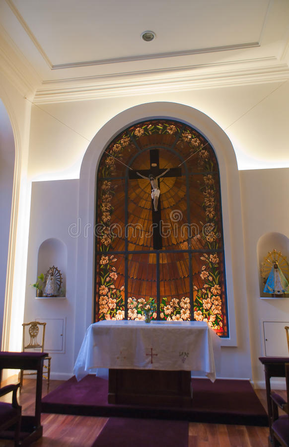 Chapel Casa Rosada. The small chapel inside Casa Rosada in Buenos Aires stock photography