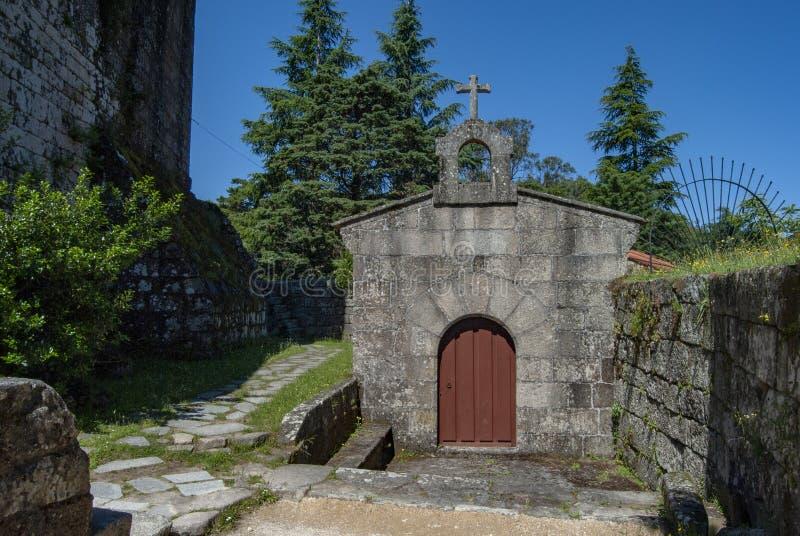 Castle of Villasobroso in the province of Pontevedra in Galicia. Chapel of the Castle of Villasobroso, medieval castle located in the province of Pontevedra, in stock photos