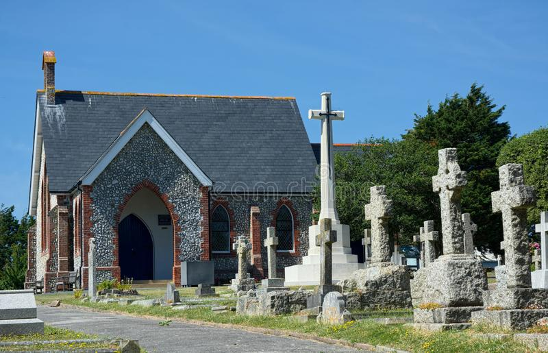 Chapel & Cemetery, Seaford, Sussex. UK royalty free stock photography
