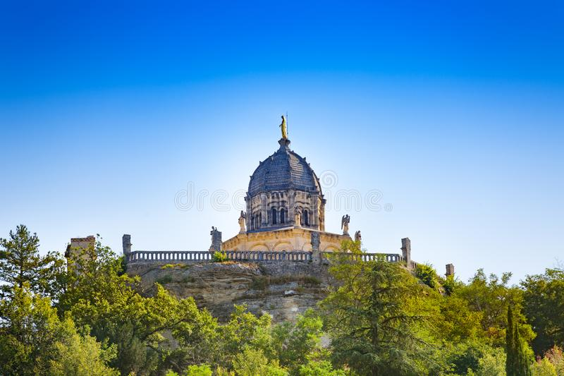Chapel in the center of Forcalquier town France. Chapel in the center of Forcalquier commune in the Alpes-de-Haute-Provence department in southeastern France stock image