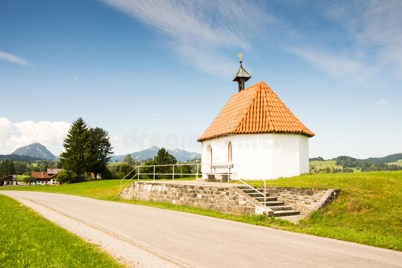 Chapel at a country road stock image