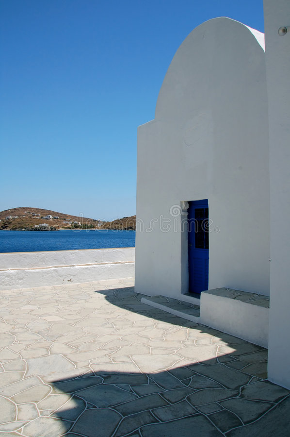 Chapel in Cyclades royalty free stock images