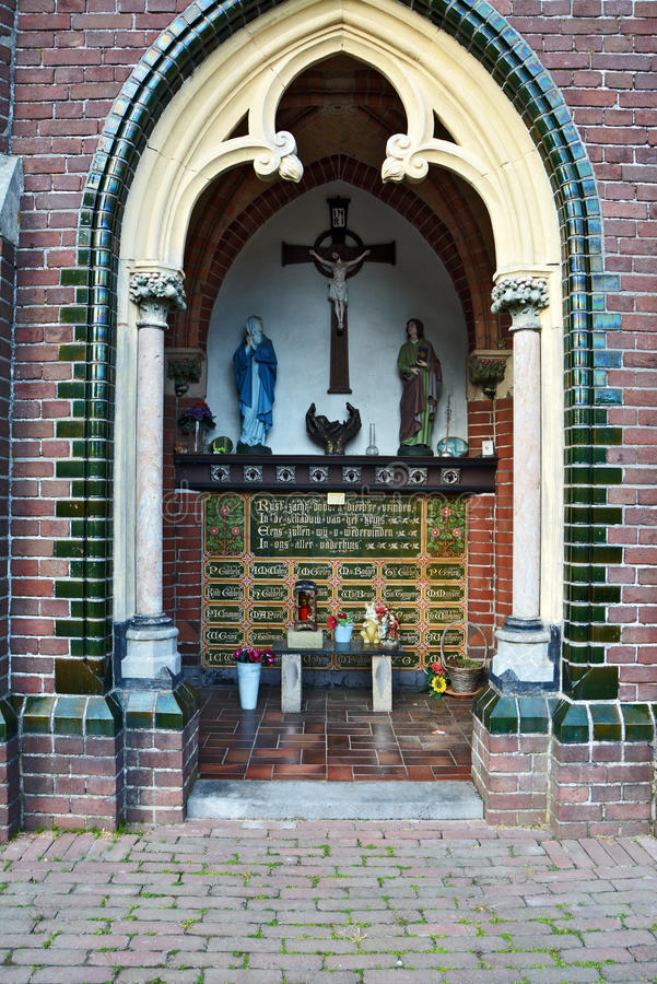 Chapel on a Dutch cemetery (interior) royalty free stock photo