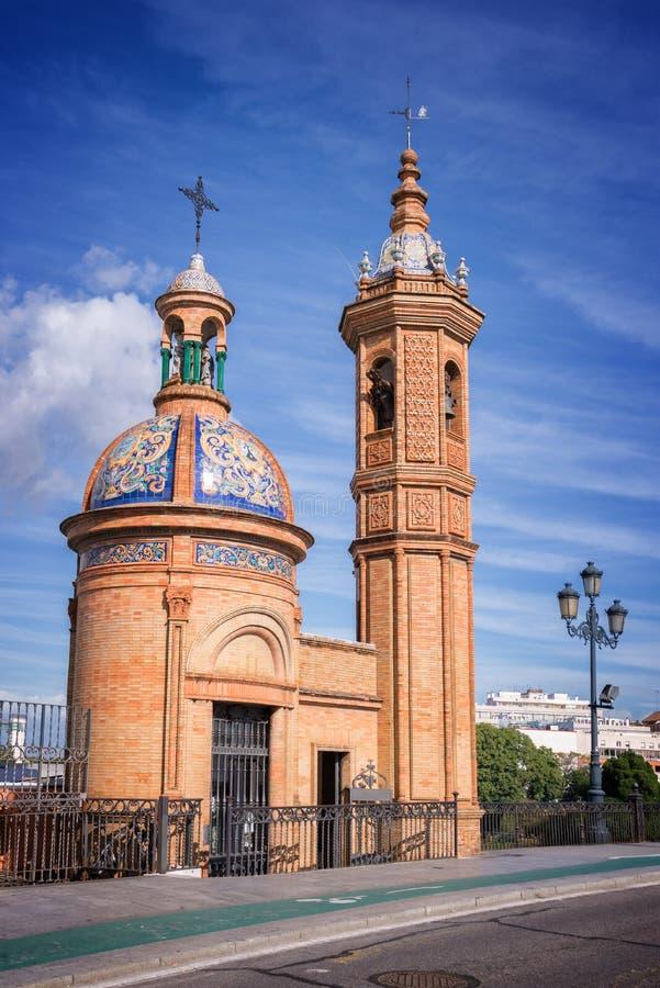 Chapel of El Carmen, Triana district, Seville royalty free stock image