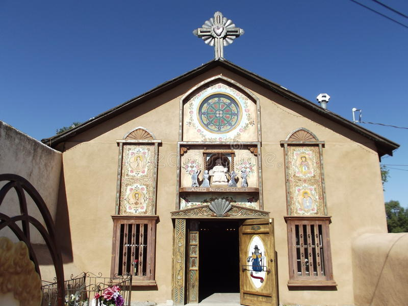 Chapel of El Santo Niño de Atocha, Chimayo, New Mexico stock images