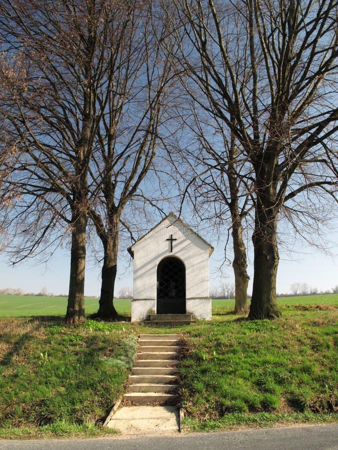 Chapel in fields