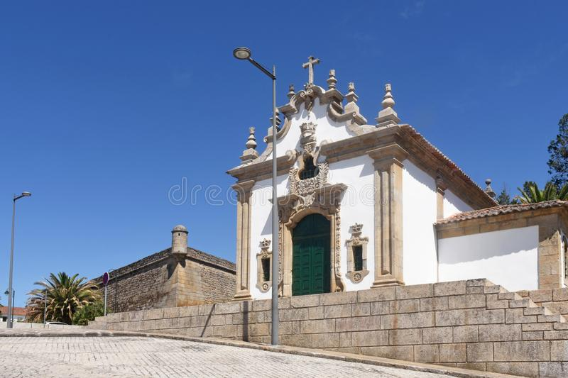 Chapel and fortress in Chaves,. Portugal royalty free stock photo