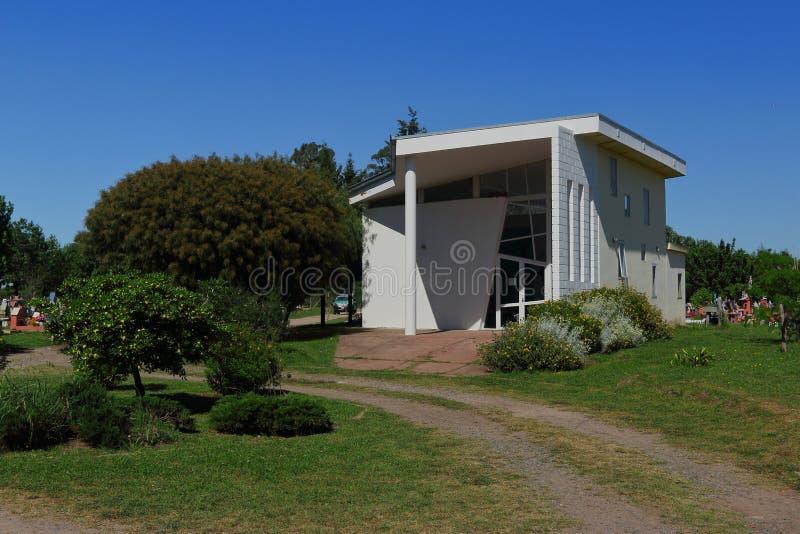 Chapel från en kommunal kyrkogård arkivbilder