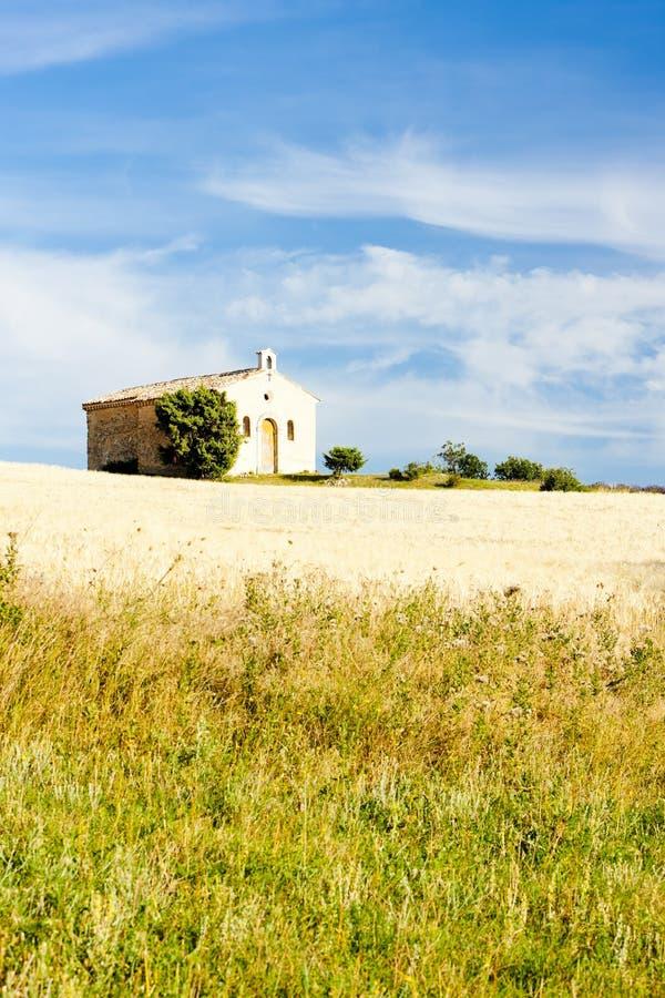 Download Chapel with grain field stock photo. Image of landmark - 27009628