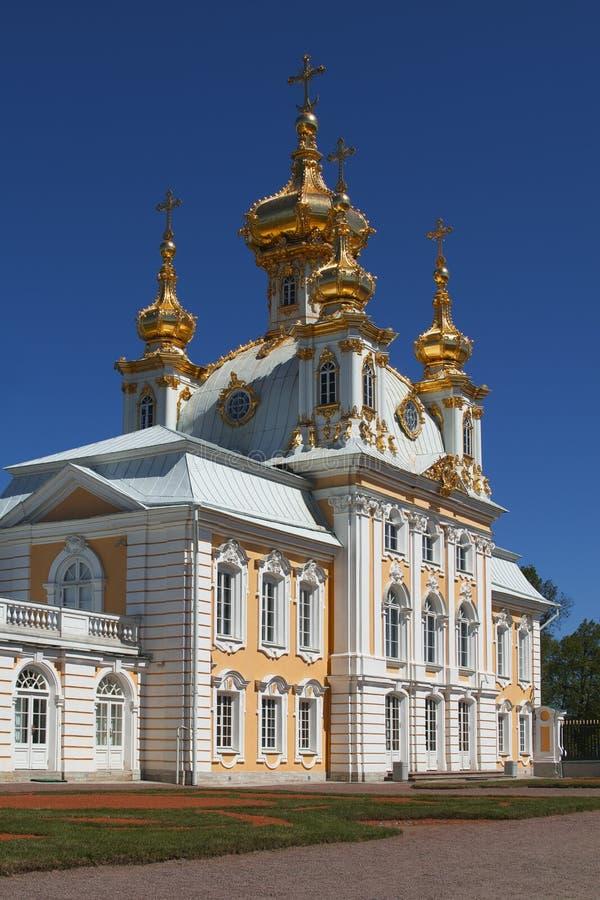 Chapel of Grand Peterhof Palace, St. Petersburg, Russia stock photos