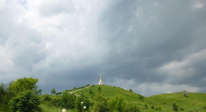 Chapel on the hill royalty free stock images
