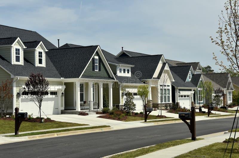 Chapel Hill, NC: Nuevos hogares residenciales fotografía de archivo