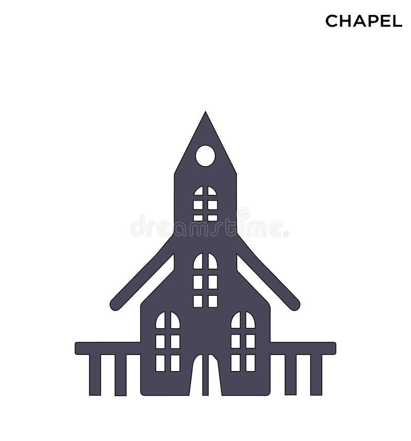 Chapel icon editable symbol design. With white background Expand to any size, Change to any color stock illustration