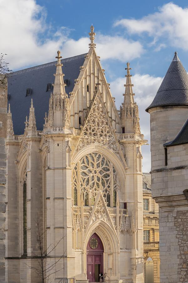 The chapel inside the Chateau de Vincennes royalty free stock photography