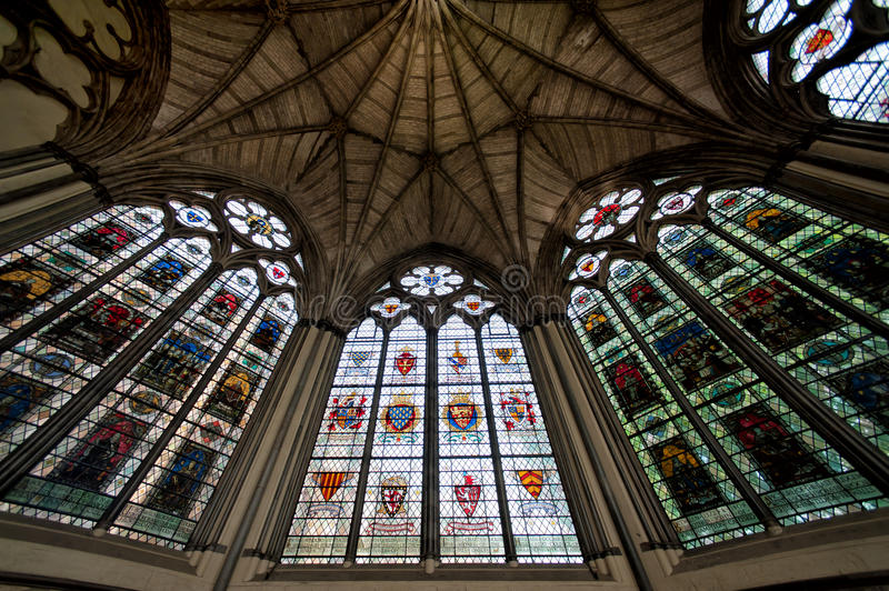 The chapel inside Westminster Abbey, London stock images