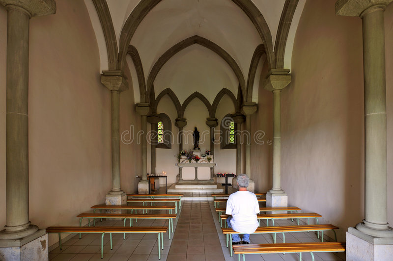 Download Chapel interior stock photo. Image of person, religion - 6443848