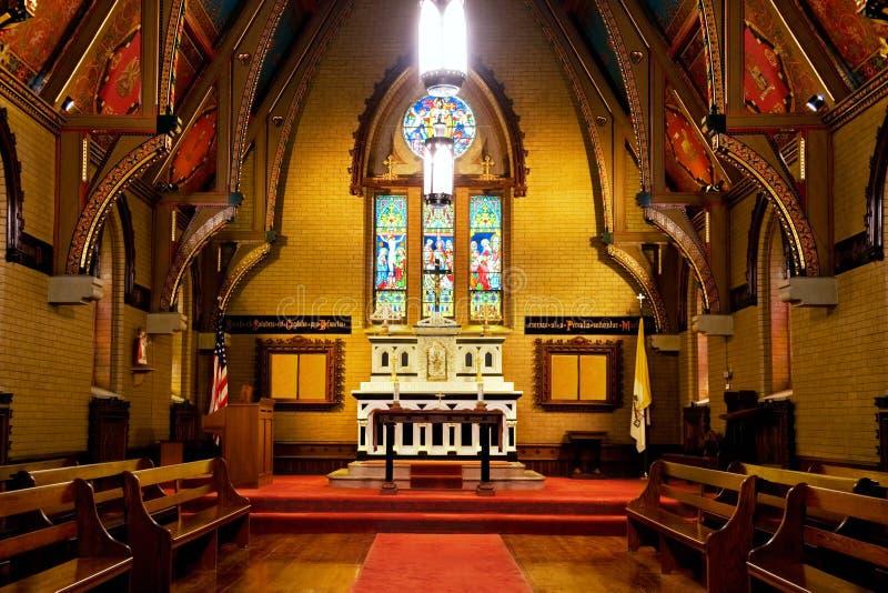 Chapel Interior English Gothic Style Stock Photo Image