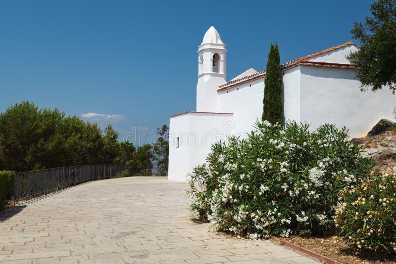 Chapel John Baptist Costa Brava, Katalonien, Spanien royaltyfri bild