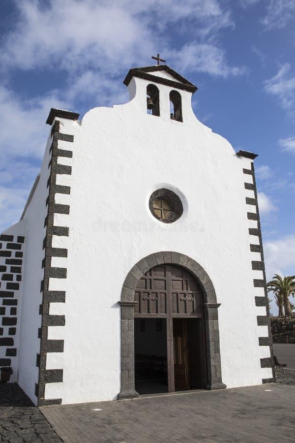 Ermita de los Dolores Chapel in Lanzarote stock photography