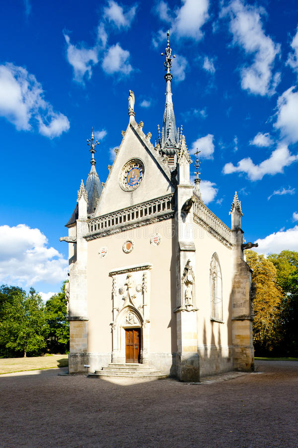 Download Chapel of Meillant Castle stock image. Image of building - 21275003