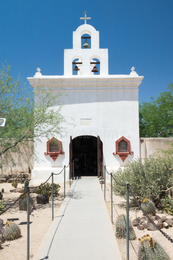 The Chapel at Mission San Xavier. Quanit Spanish colonial chapel beside the mission at San Xavier stock photography