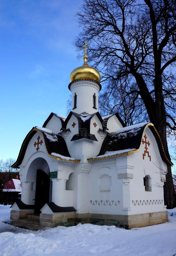 Chapel in the Monastery Cathedral of Sts. Boris and Gleb in Dmitrov royalty free stock images