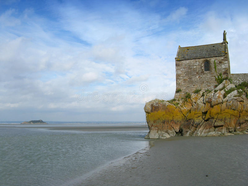 Chapel At Mont St. Michel Royalty Free Stock Photo