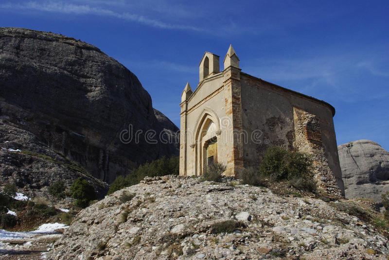 Chapel Montserrat royalty free stock image