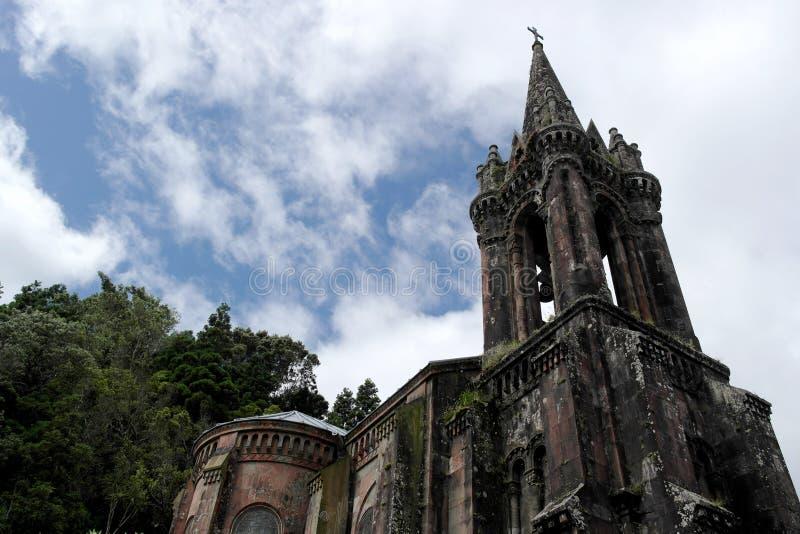 Chapel near Furnas lake, Sao Miguel island, Portugal. Chapel near Furnas lake, Sao Miguel island, Azores, Portugal stock photos