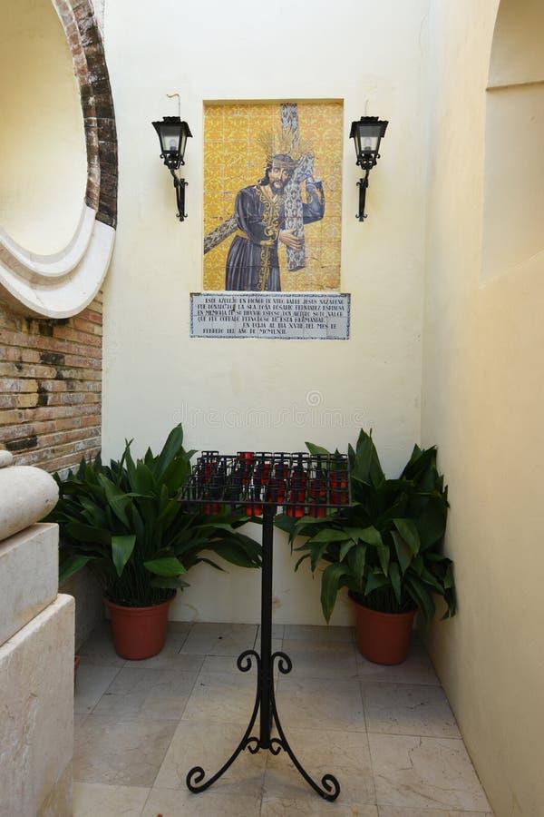 Chapel next to the church of San Juan, Ecija, Sevilla province, Andalusia, Spain royalty free stock photos