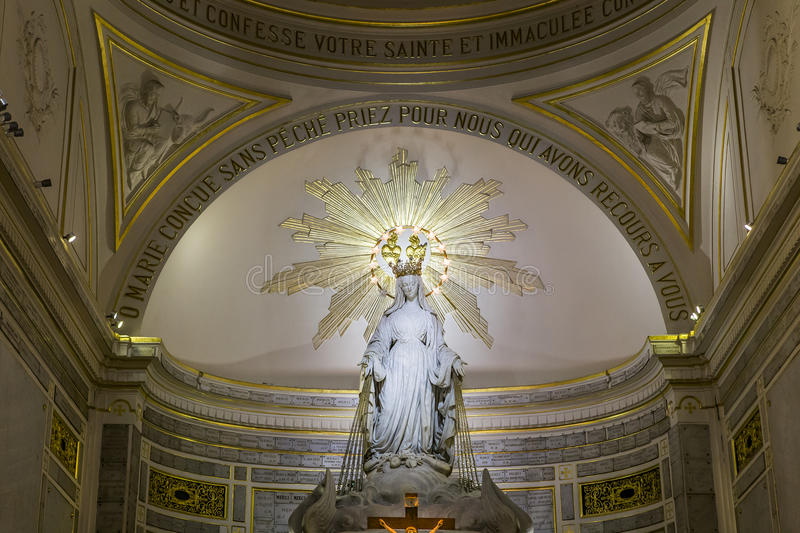 Chapel of Our Lady of the Miraculous Medal, Paris, France royalty free stock image