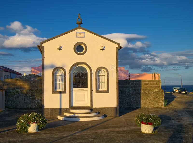Chapel in Ponta Delgada city, Sao Miguel island, Azores, Portugal stock photo