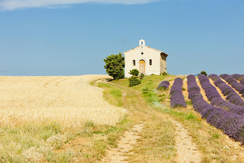 Download Chapel, Provence, France stock image. Image of flower - 24227529