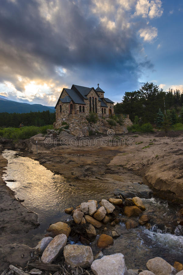 Chapel on the Rock, Allenspark Colorado stock photo